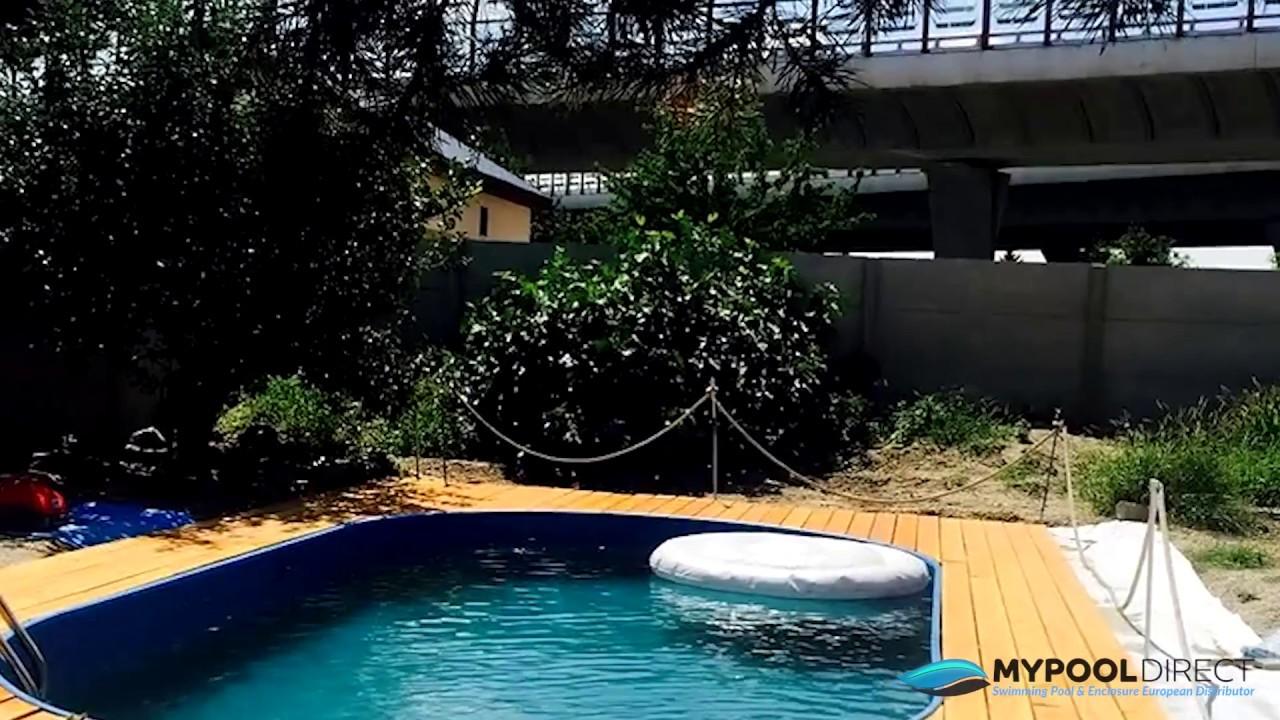 Diy In Ground Swimming Pool Installation Uk Youtube