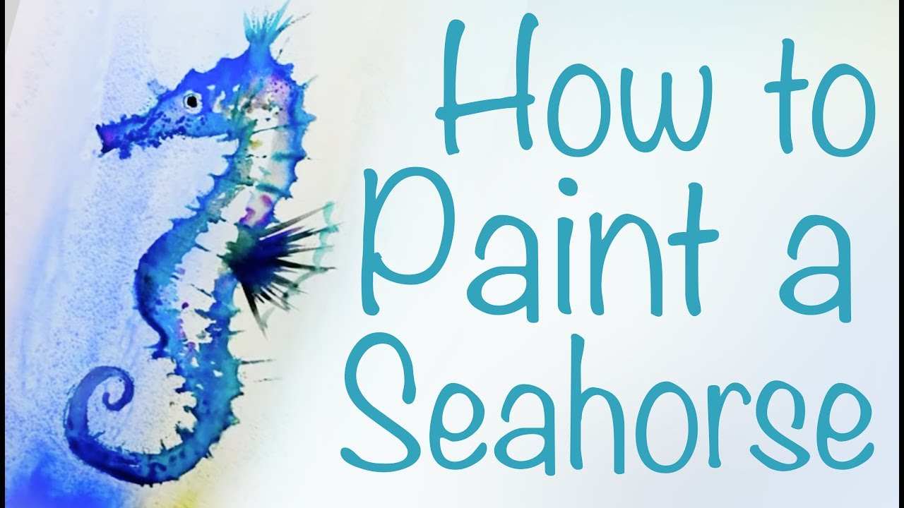 How to paint a Seahorse  CARAN dACHE  Luisa Dominguez