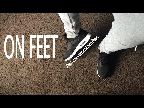Nike Air Max Tavas Black On Feet
