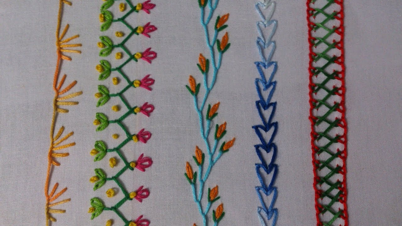 Hand embroidery embroidery stitches tutorial for
