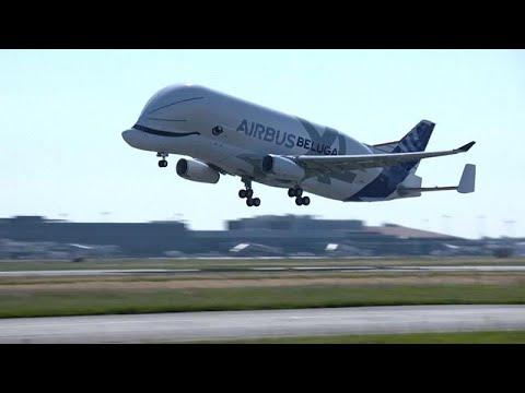 Primer vuelo del Beluga XL, la ballena de los cielos