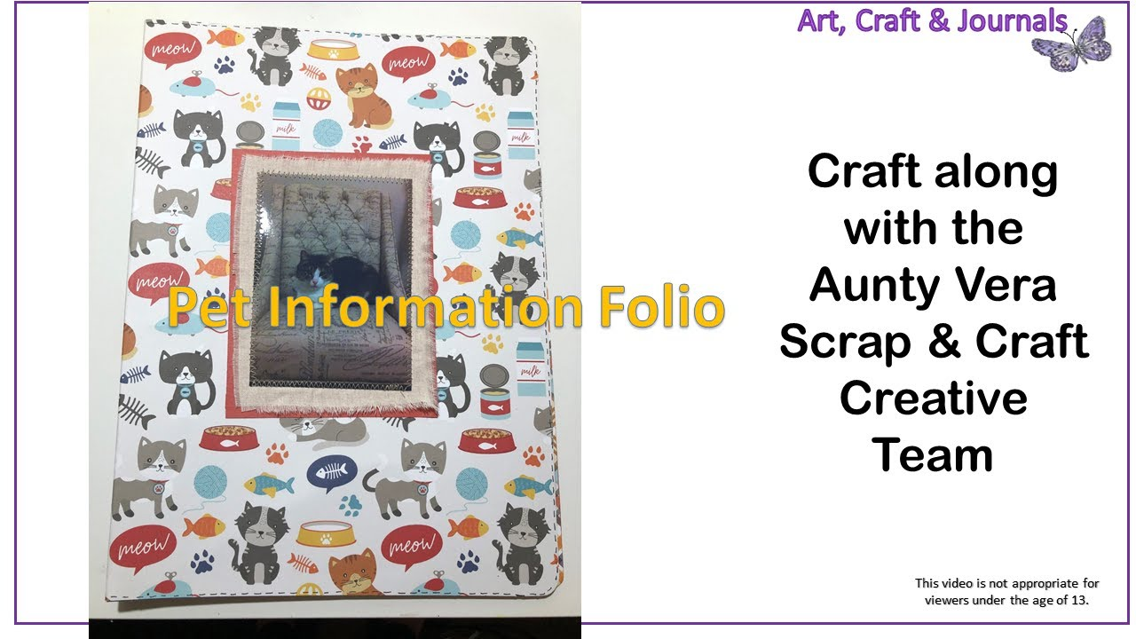 Aunty Vera Scrap And Craft Pet Information Folio Youtube