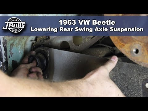 JBugs - 1963 VW Beetle - Lowering Rear Swing Axle Suspension