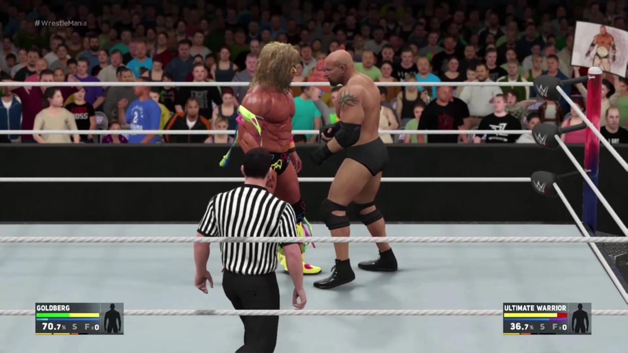 The Ultimate Warrior vs Bill Goldberg WrestleMania 32 ...