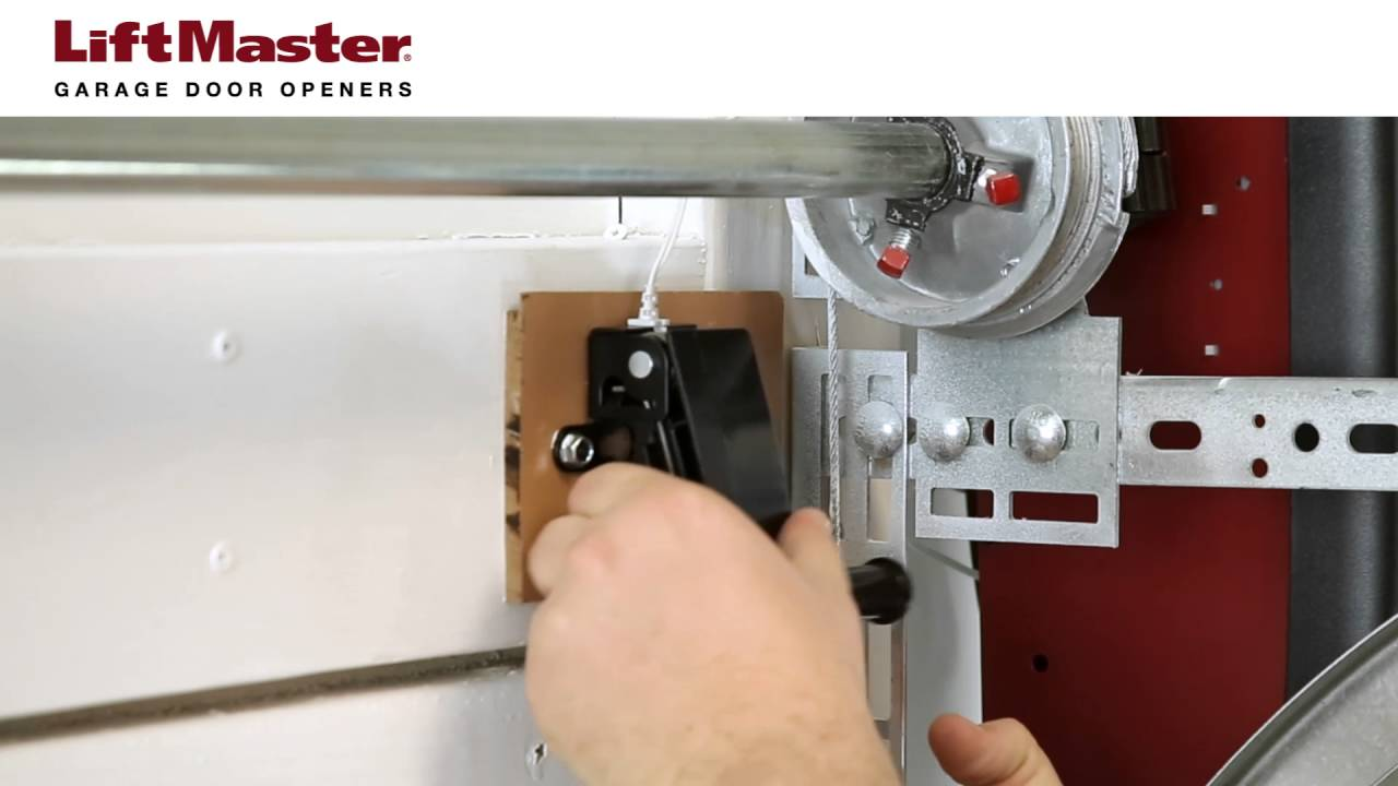 How To Install The Cable Tension Monitor On A Model 8500 Garage Door Opener
