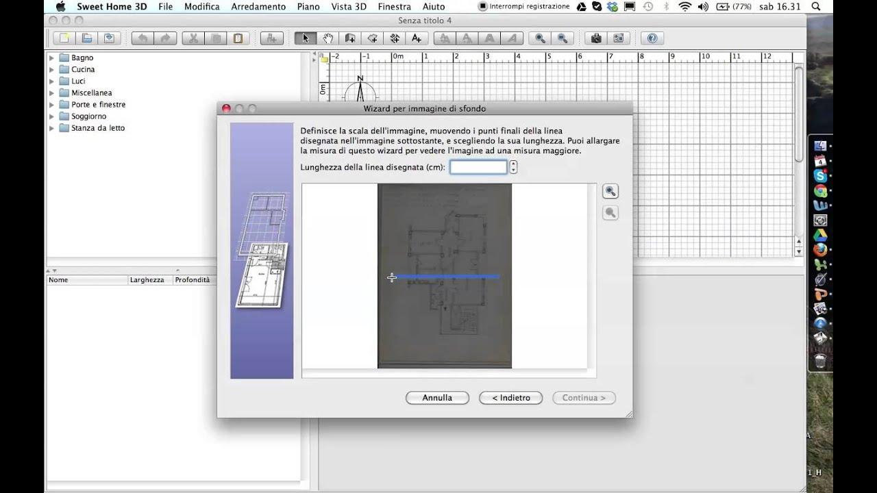 Come importare una piantina by Matteo & Leonardo with SWEETHOME 3D ...