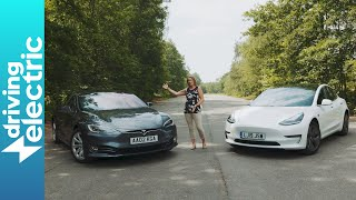 Tesla Model 3 vs used Tesla Model S - DrivingElectric