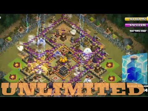 Clash Of Clans HACK || Unlimited Lightning Spell ||