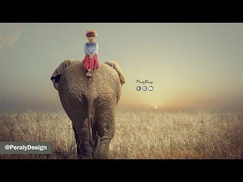El Elefante y La Niña | Fotomanipulación Avanzada con Photoshop [Tutorial de Photoshop] thumbnail