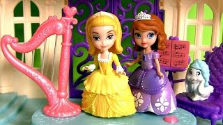 Princess Amber and Royal Harp From Disney Sofia the First in Magical Talking Castle Playset DC Toys