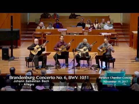 LAGQ plays Bach's 6th Brandenburg, Mvt. 1 on Parlance Chamber Concerts