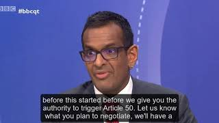Anand Menon on BBC Question Time: can no deal be taken off the table?