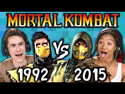 MORTAL KOMBAT Old vs New 1992 vs 2015 React: Gaming