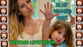 TRYING ON MY WEDDING DRESS || DOES IT STILL FIT || LIFE WITH JACKIE FAMILY VLOGS