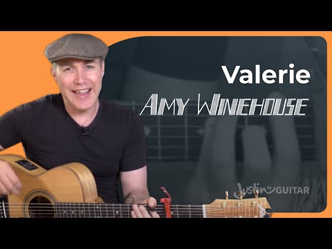 Valerie - Amy Winehouse & Mark Ronson - Guitar Lesson Tutorial (BS-823) The Zutons Cover