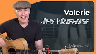 valerie amy winehouse mark ronson guitar lesson tutorial bs 823 the zutons cover