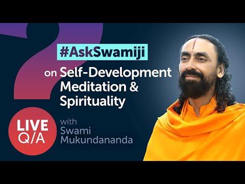 #AskSwamiji - Live Q/A with Swami Mukundananda on Self-Development, Meditation & Spirituality