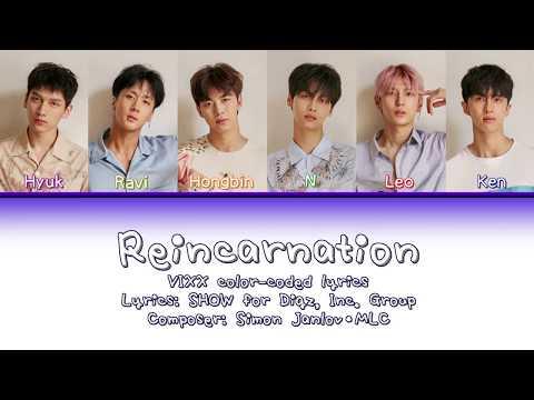 VIXX - Reincarnation Color-Coded Lyrics (English/Rom/Kana) 歌詞