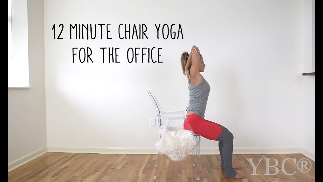 12 minute chair yoga for the office - youtube