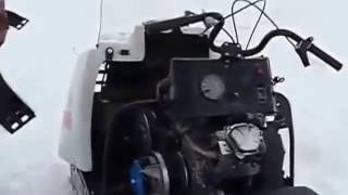 видео Снегоход Буран с 4-тактным мотором