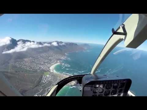 Scenic helicopter flight over Cape Town
