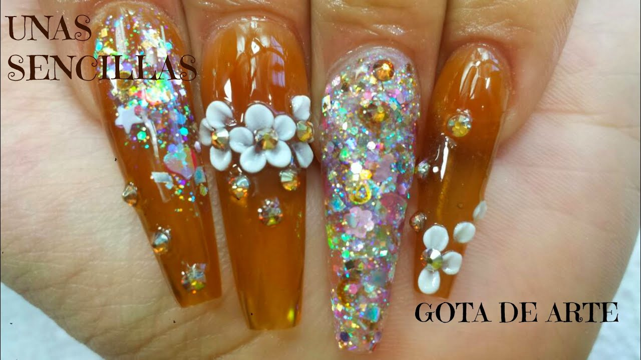 Uñas Sencillas Champagne Gota De Arte Luliz Nails Youtube