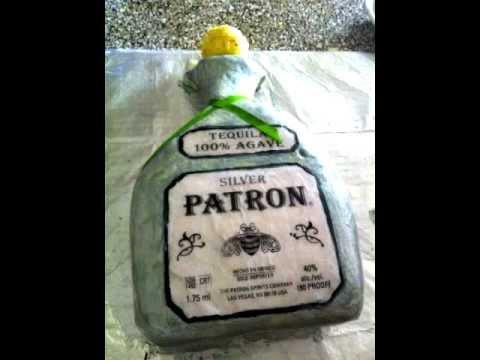 How To Make A Patron Bottle Shaped Cake YouTube - Patron birthday cake