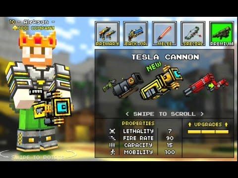 Pixel Gun 3D Minecraft Style NEW WEAPON MAP |DUAL UZI| TACTICAL BOW| Tesla Cannon #10