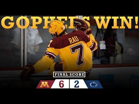 Highlights: Gopher Hockey Wins Big Ten Title, Defeats Penn ...