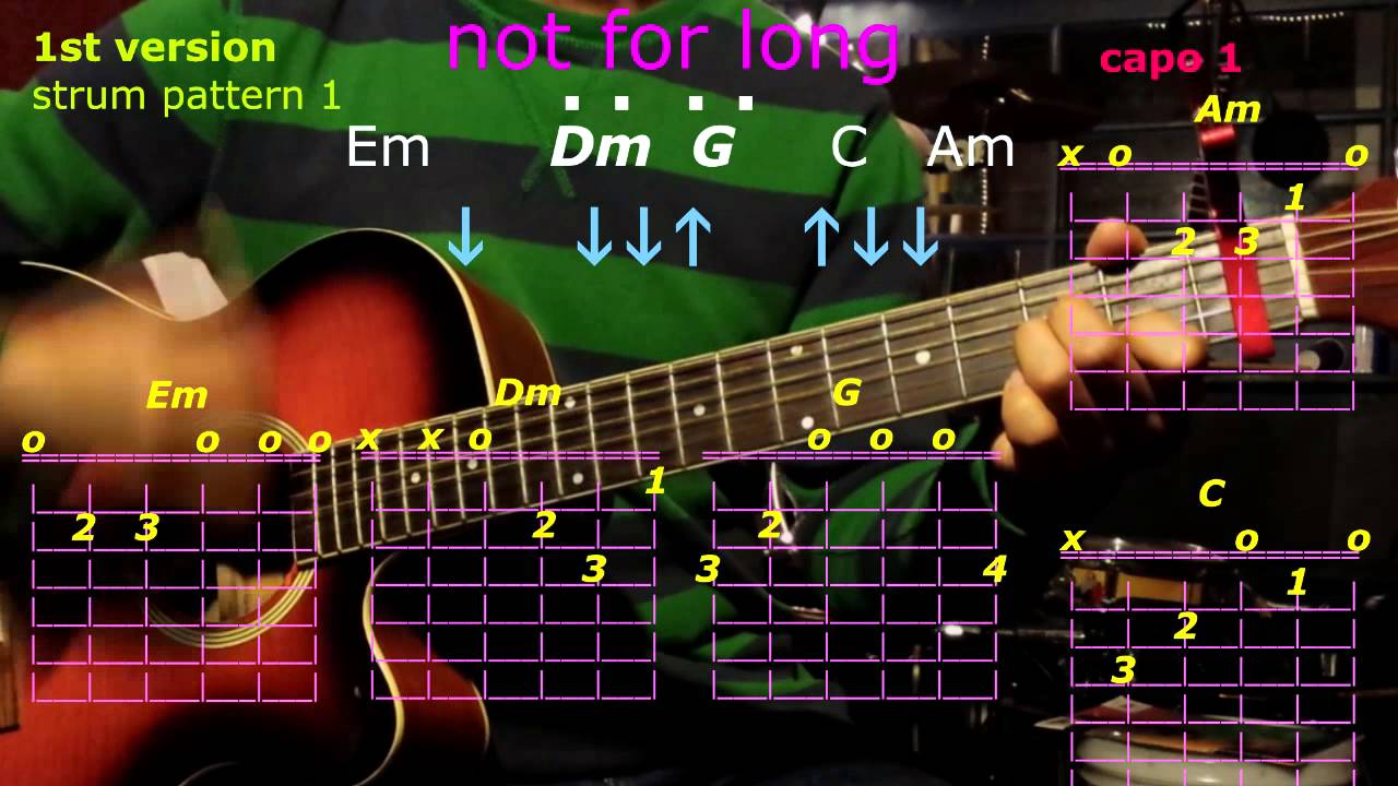 Not for long bob guitar chords youtube not for long bob guitar chords hexwebz Images