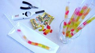 Haribo Gummy Bears Trapped in a Straw : Straw Life Hack ライフハック ハリボーグミをストローにとじこめちゃいました thumbnail