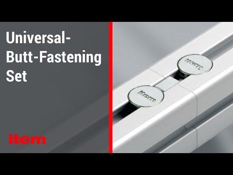 Fasteners For Aluminium Profiles – The Universal-Butt-Fastening Set