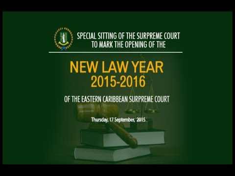 Special Sitting of the Supreme Court to Mark the Opening of the New Law Year 2015 2016