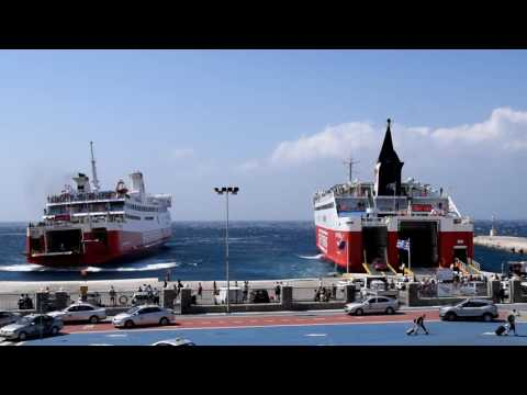 Fast Ferries Andros and Ekaterini P in Tinos
