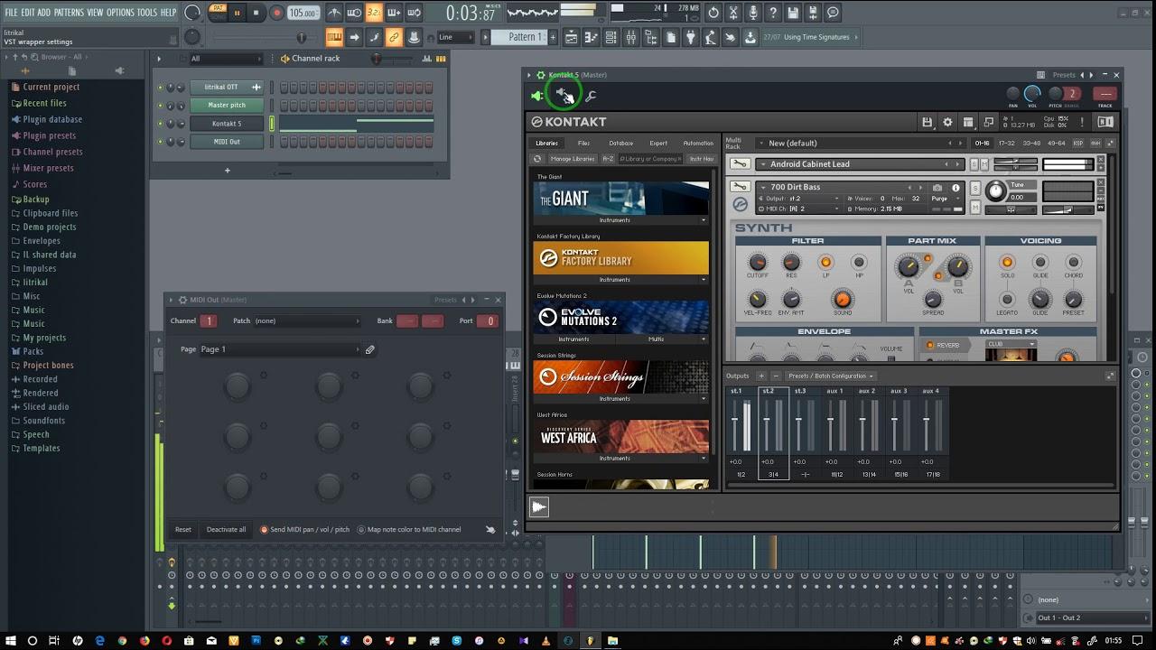 fl studio 12 kontakt 5 download