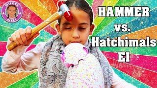 HAMMER VS. EI - HATCHIMALS TWINS ZERSTÖRUNG - Giraffen Zwillinge - MILEYS WELT