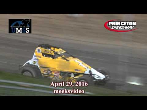 April 29, 2016 UMSS Non Wing Sprints Princeton Speedway