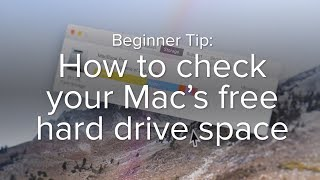 How to check your Mac's free hard drive space | Macworld Beginner Tip