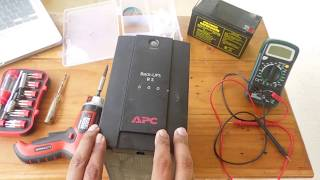 Apc Back Ups RS 600, 500 opening and Battery Replacement