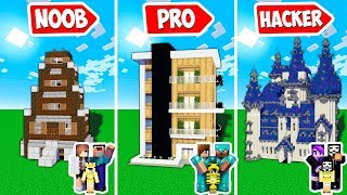SCORPY BUILD THE BIGGEST FAMILY LIFE HOUSE FOR NOOB PRO AND HACKER | TROLLING MINECRAFT EPISODES