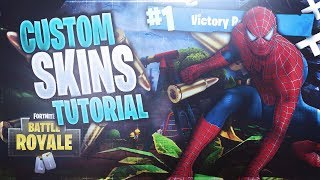 *NEW* How to make CUSTOM SKINS in Fortnite! (Spider Man, Venom, IRON MAN!)