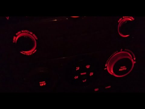 Замена ламп подсветки климат-контроля Mazda 3 BK