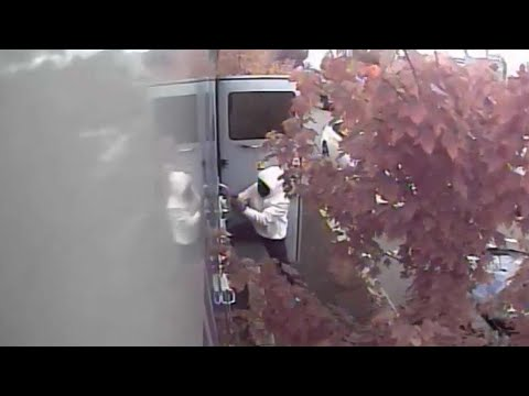 Surveillance Video Shows Attempted Armed Robbery Of Armored Truck In North Philadelphia