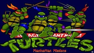 Teenage Mutant Ninja Turtles 3: The Manhattan Project gameplay (PC Game, 1991)