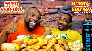 HUBBY EDITION ... FRIED SEAFOOD MUKBANG 해물먹방 ... EATING SHOW 먹방 ... CAPTION D'S SEAFOOD RESTAURANT.