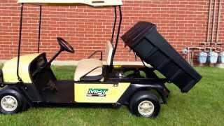 ezgo mpt 1000e utility golf cart with dump box