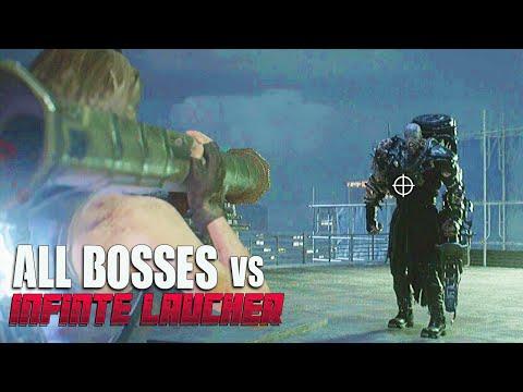 Resident Evil 3 Remake- Infinite Launcher Vs All Bosses 1080p 60fps