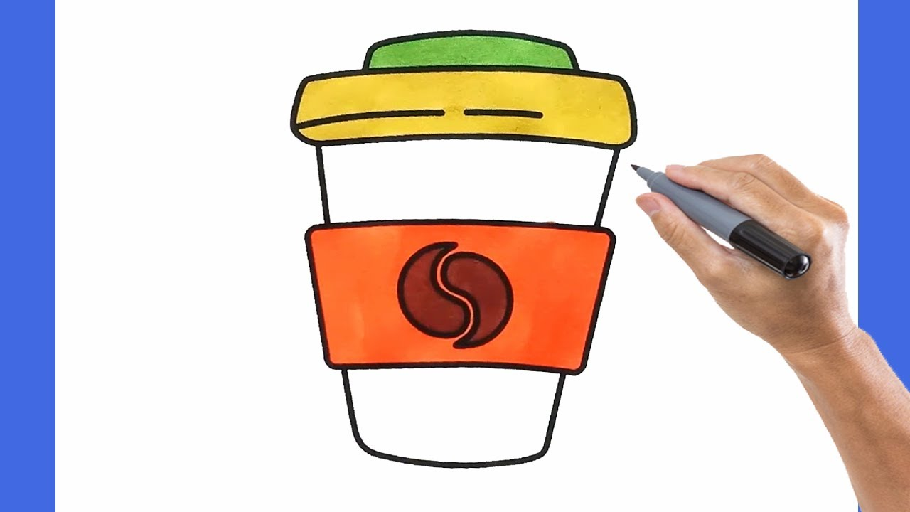 Learn to Draw Cute Coffee Drink Step by Step - Super Easy Drawing