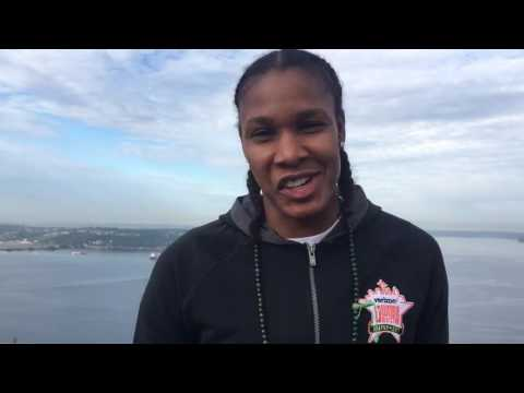 Rebekkah Brunson talks WNBA All Star Game from Seattle's Space Needle