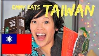 Emmy Eats Taiwan - tasting Taiwanese snacks
